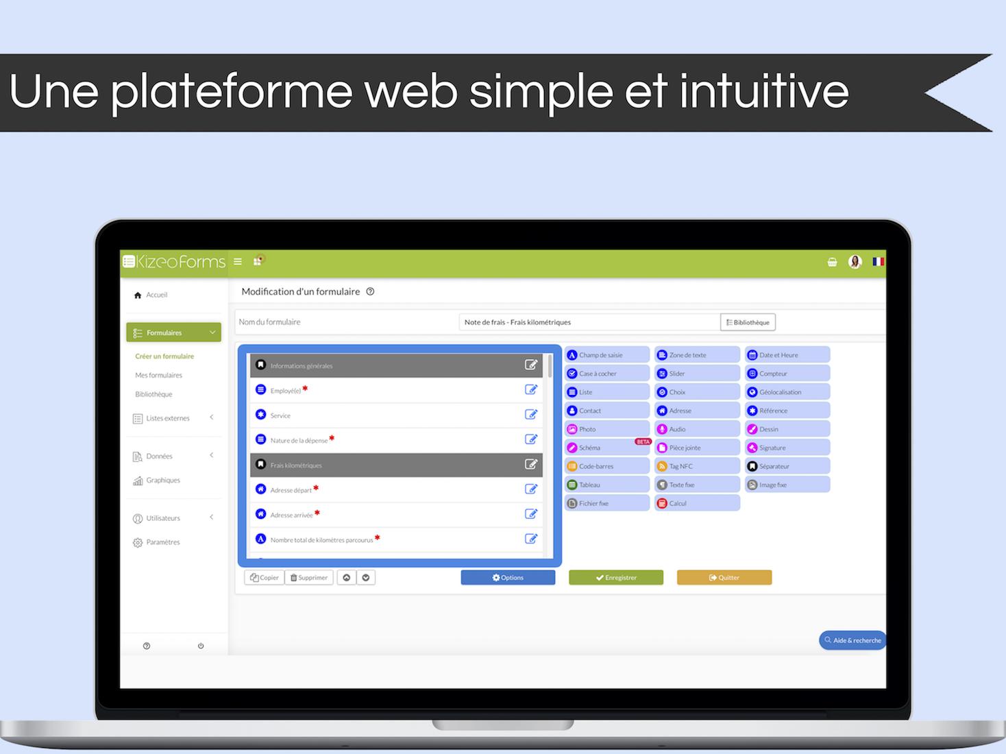 Depuis notre plateforme web, simple et intuitive, vous pouvez créer vos suivis de chantiers, bons de livraison ou encore vos mains courantes, entièrement personnalisés en quelques clics.
