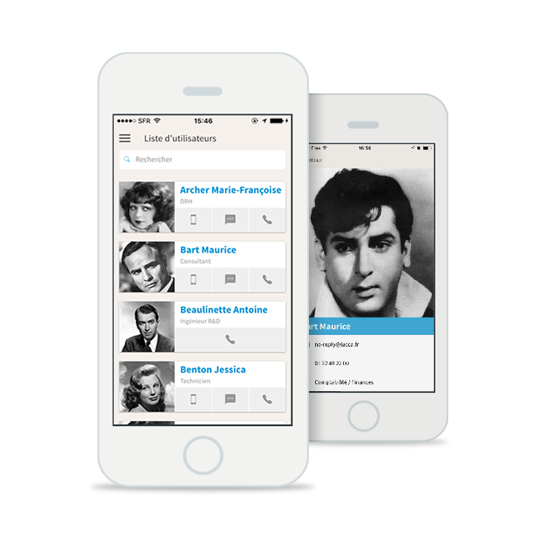 Application mobile annuaire RH
