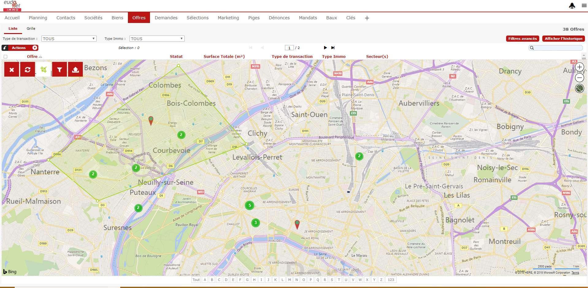 Centralisez dans Eudonet les biens et terrains, ainsi que l'ensemble de leurs caractéristiques pour proposer à vos clients les biens qui leurs correspondent.