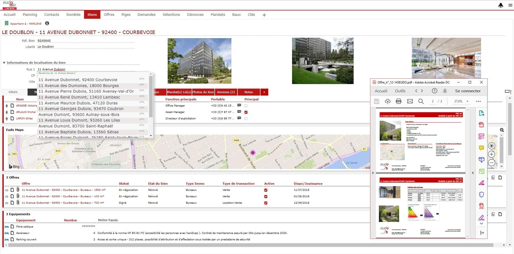Regroupez toutes vos actions et vos informations sur vos biens immobiliers de manière interactive et pratique