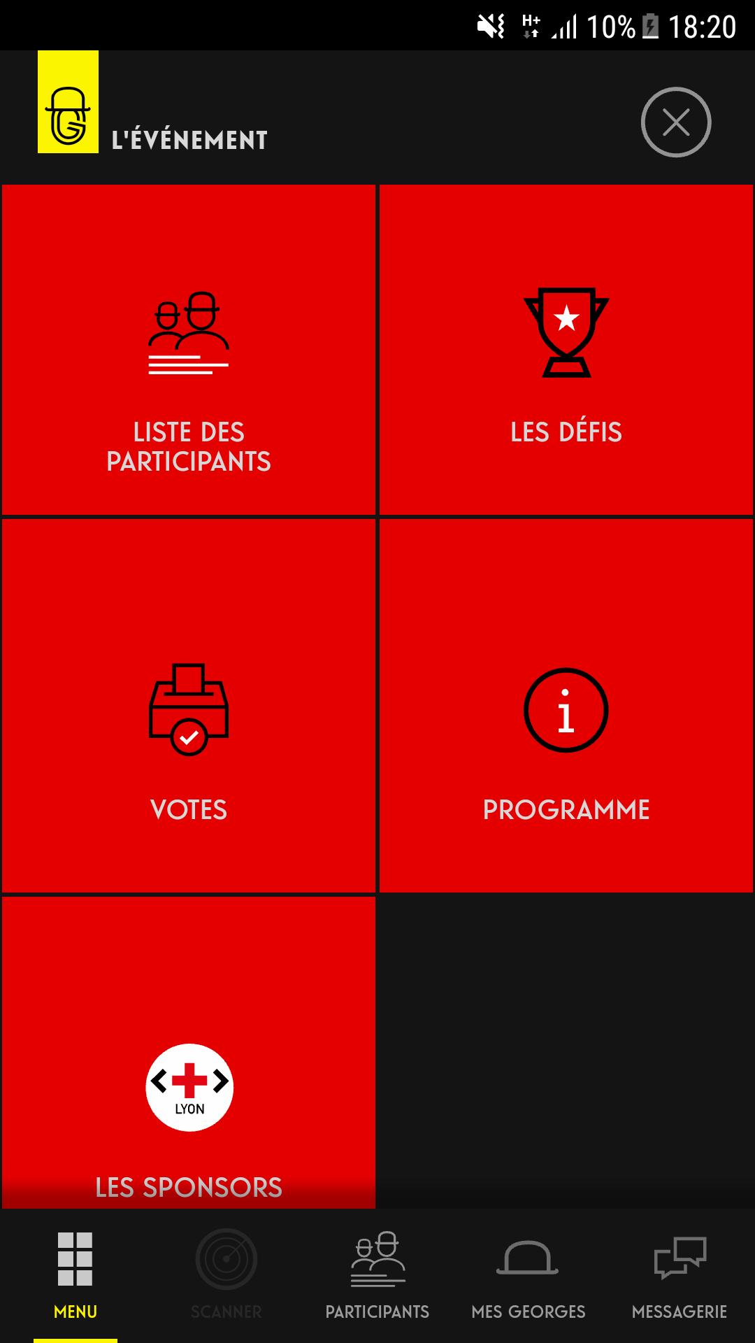 Dashboard de l'événement, entièrement configurable avec les différents modules duisponibles.