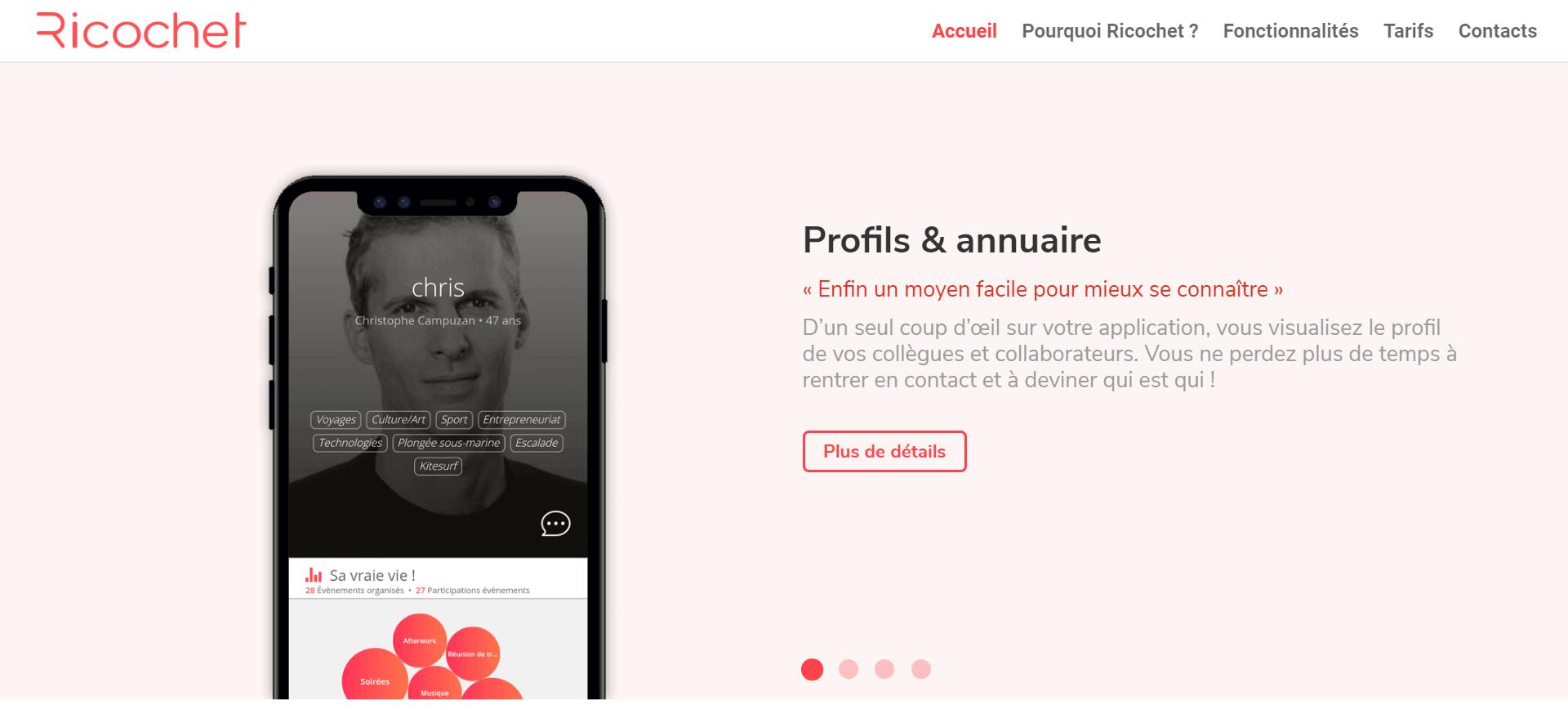 Fonctionnalité Profils & annuaire