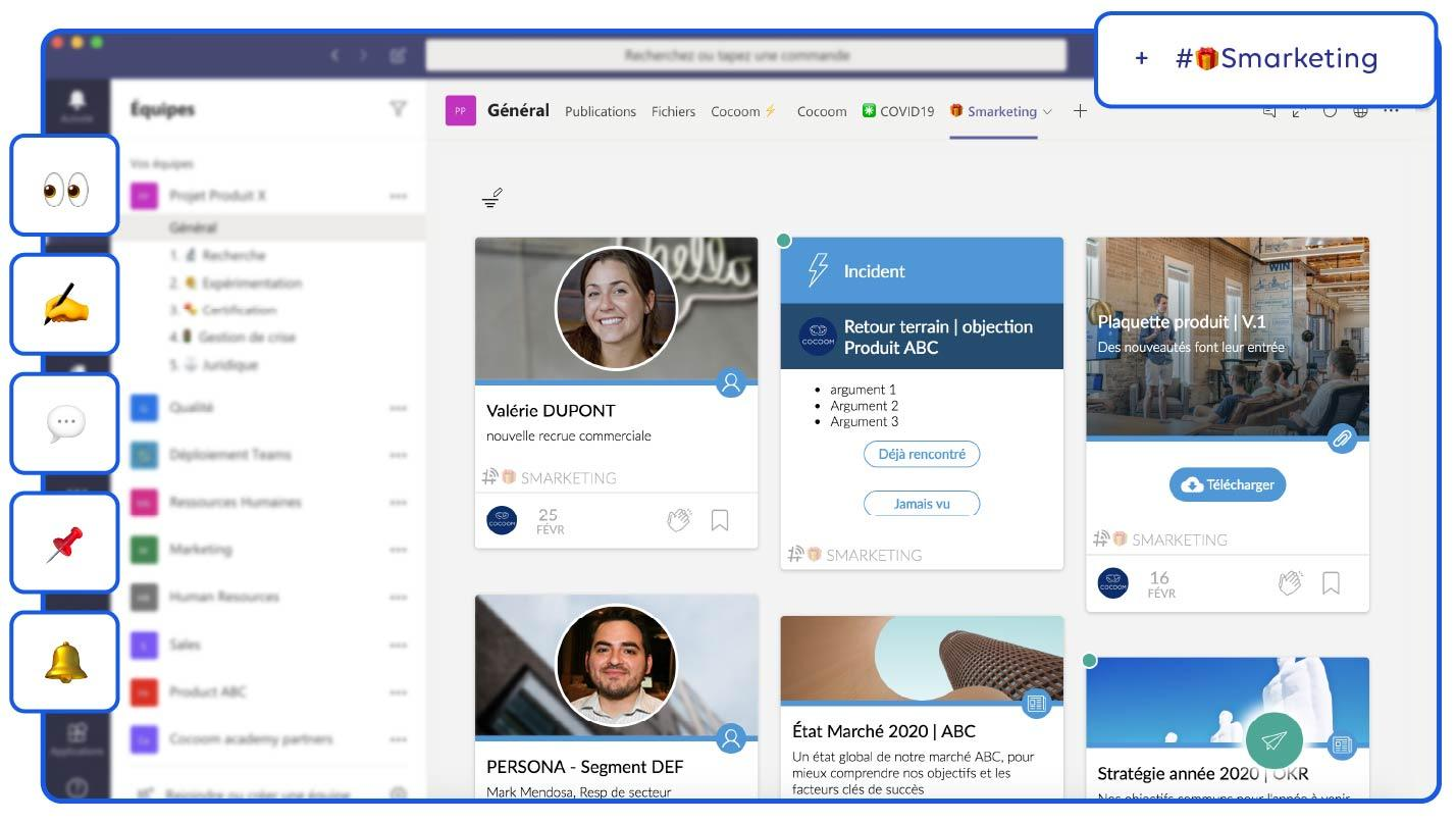 Cocoom dans Microsoft Teams