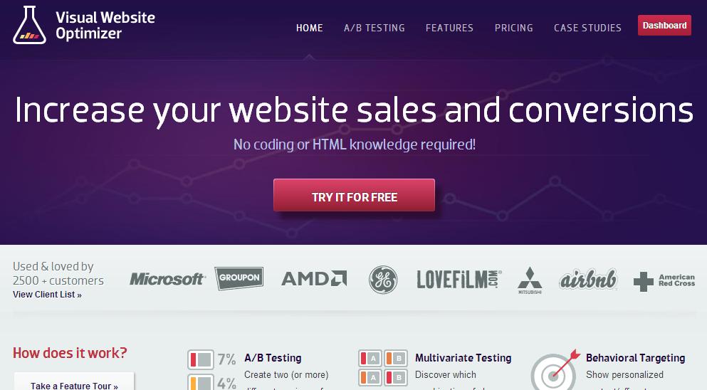 Visual Website Optimizer: Base de savoir (tutoriels, démos), Expérimentation, Combinaisons de variantes
