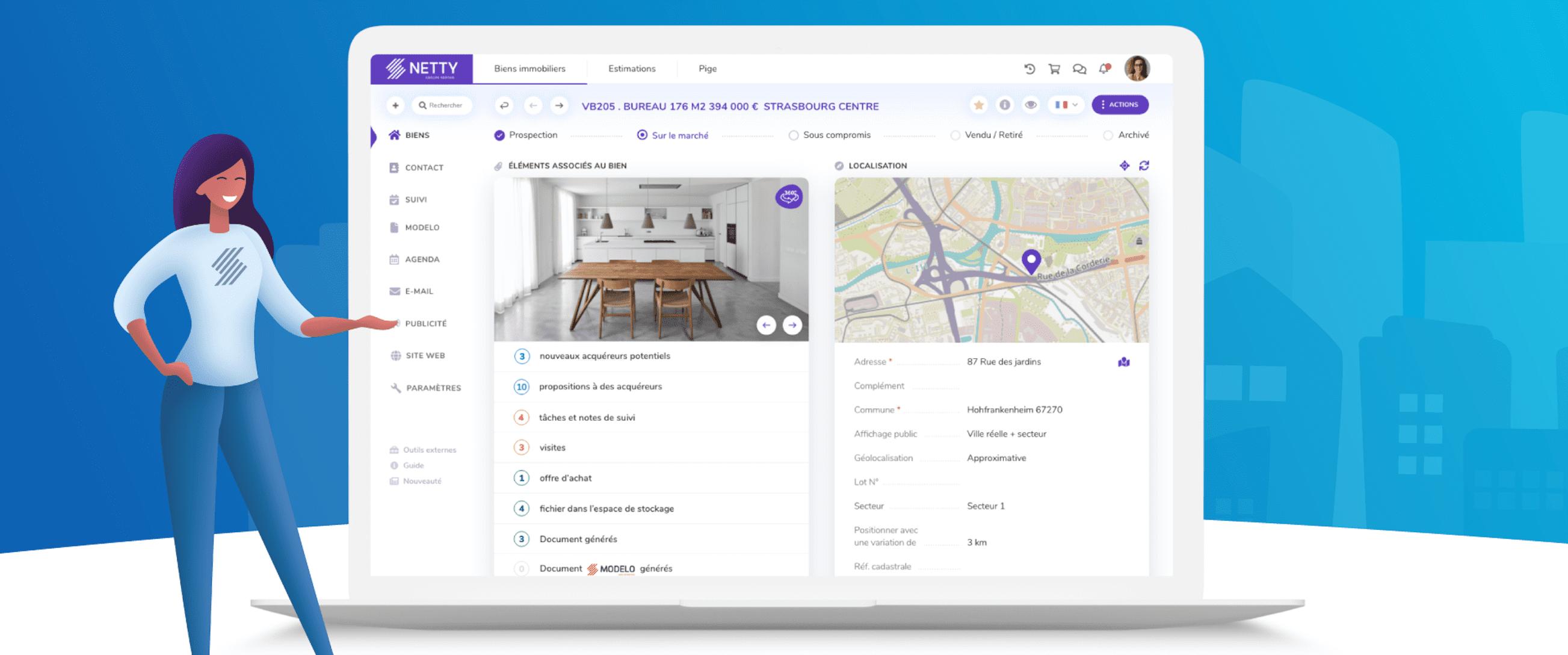 Avis Netty : Un logiciel immobilier en ligne pour gagner en productivité - Appvizer