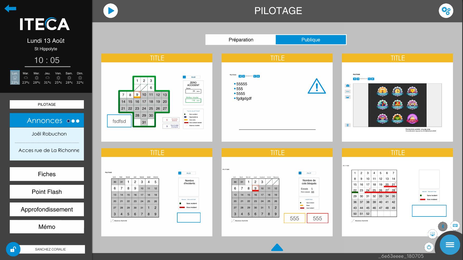 La boite à outils permet d'organiser ses visuels pour animer des présentations quotidiennes, hebdomadaires ou mensuelles