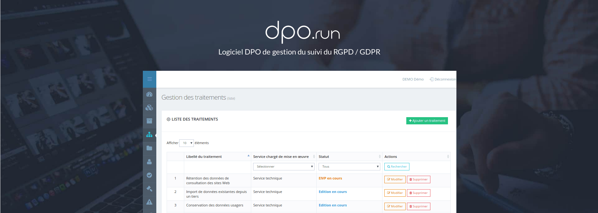 Avis DPO.run : Logiciel RGPD DPOrun - Appvizer