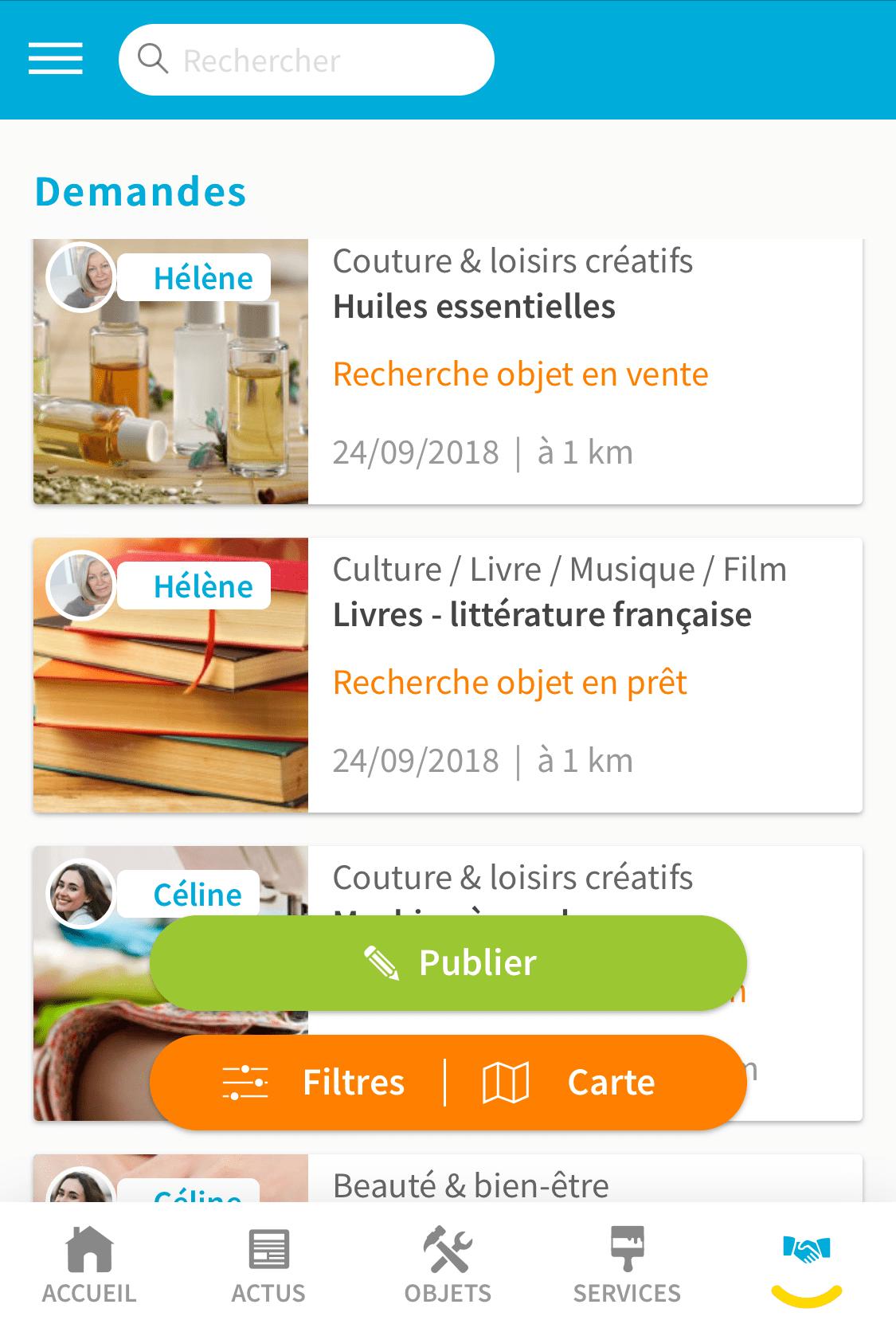 Demandes Mobile