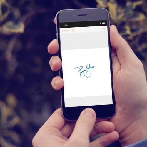 Signez sur votre smartphone
