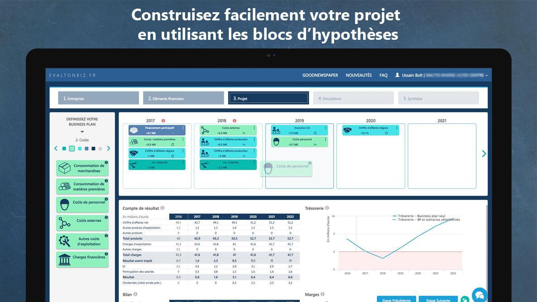 Interface ludique de construction de business plan