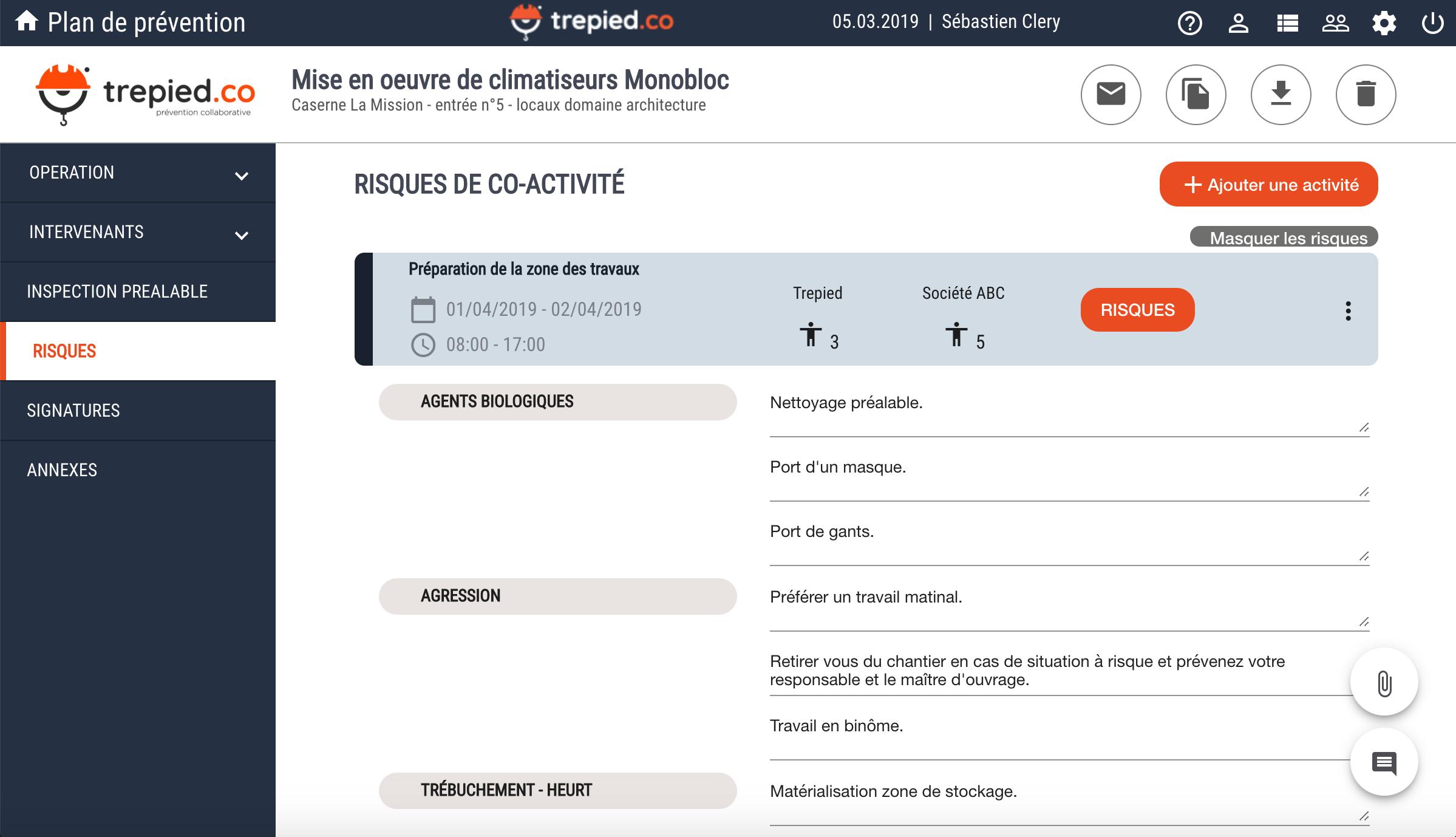 Avis trepied.co : Logiciel web de prévention des risques de coactivité - Appvizer