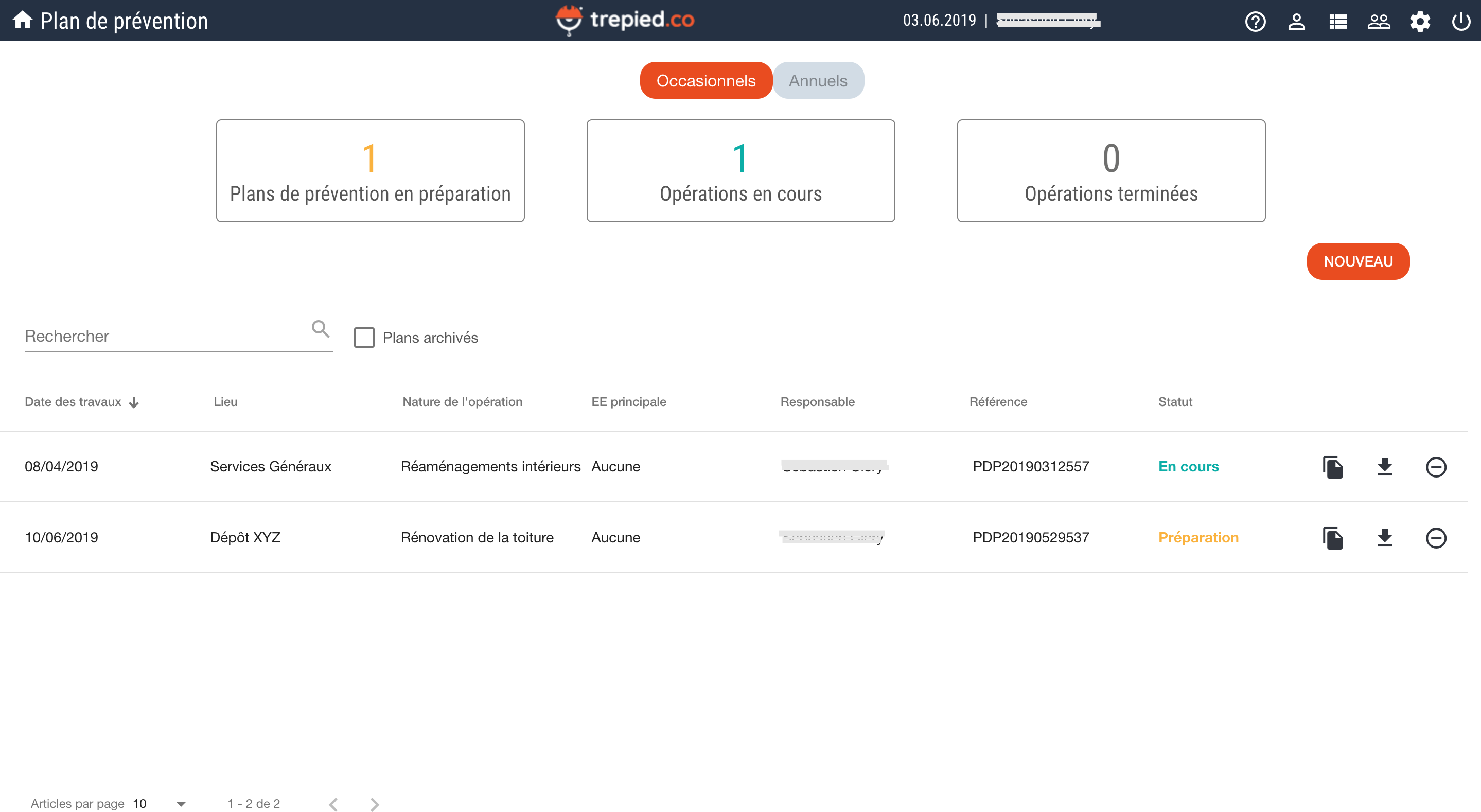 trepied.co-pdp dashboard