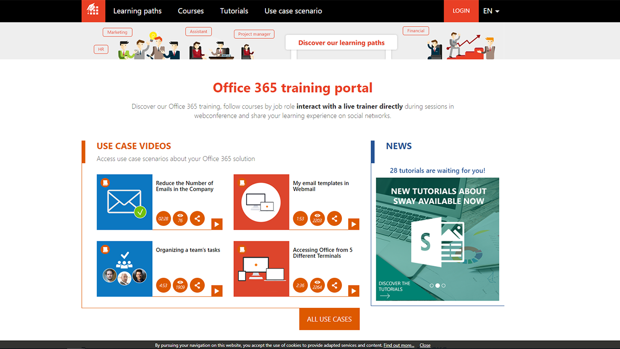 MOOC Office 365 Homepage