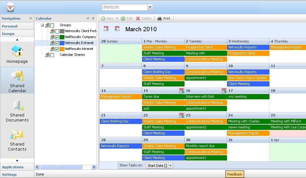 HyperOffice: Visionneuse de documents, Agendas partagés, Planification de projets