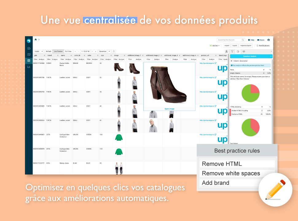 Optimisez vos catalogues produits en quelques clics