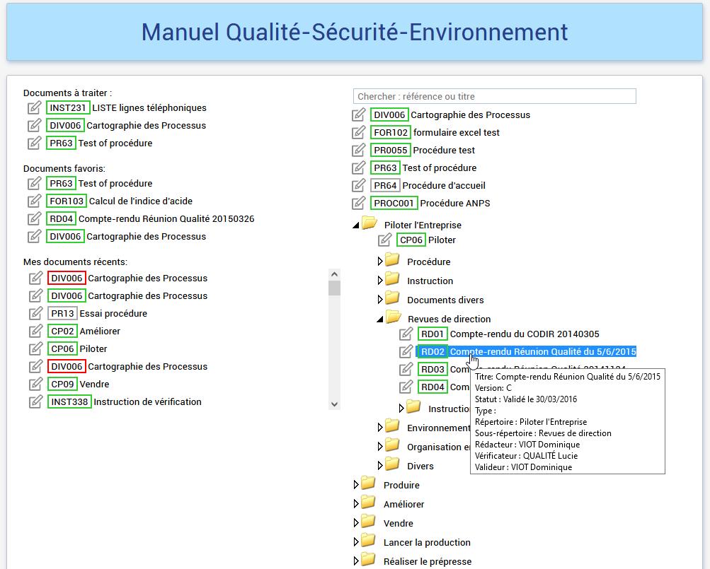 GED avec workflow de validation, outils de consultation et de recherche