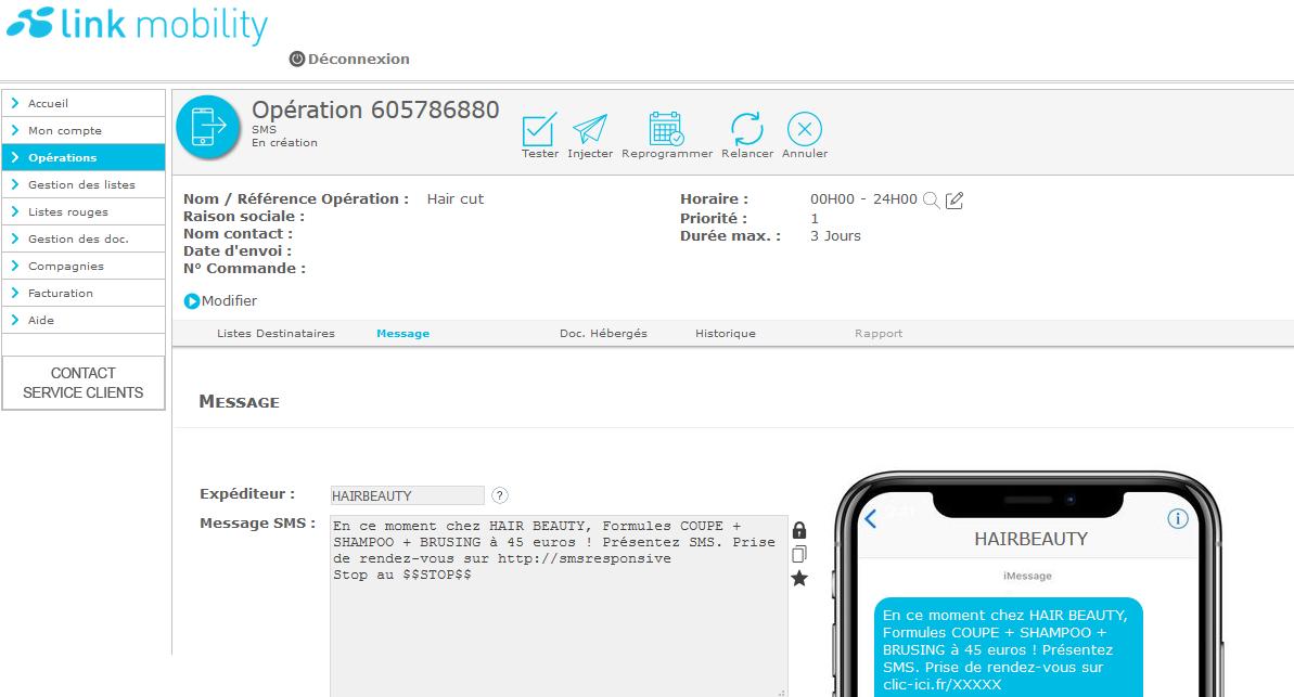 Créez vos campagnes SMS, EMAIL et VOCAL en toute simplicité