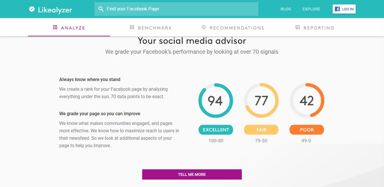 Avis Likelyzer : L'outil d'analyse des performances sur Facebook - appvizer