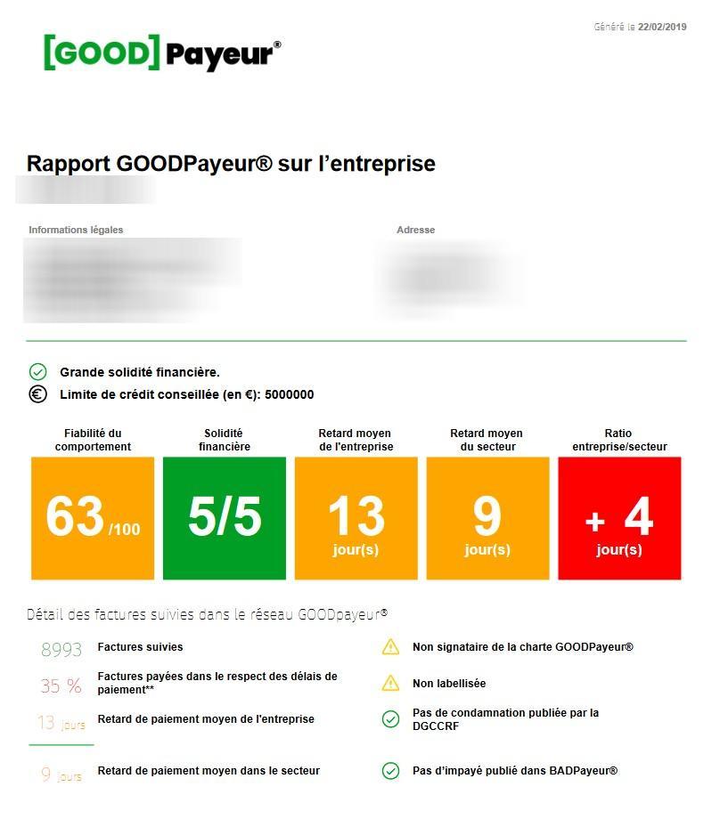 Exemple de rapport GOODPayeur