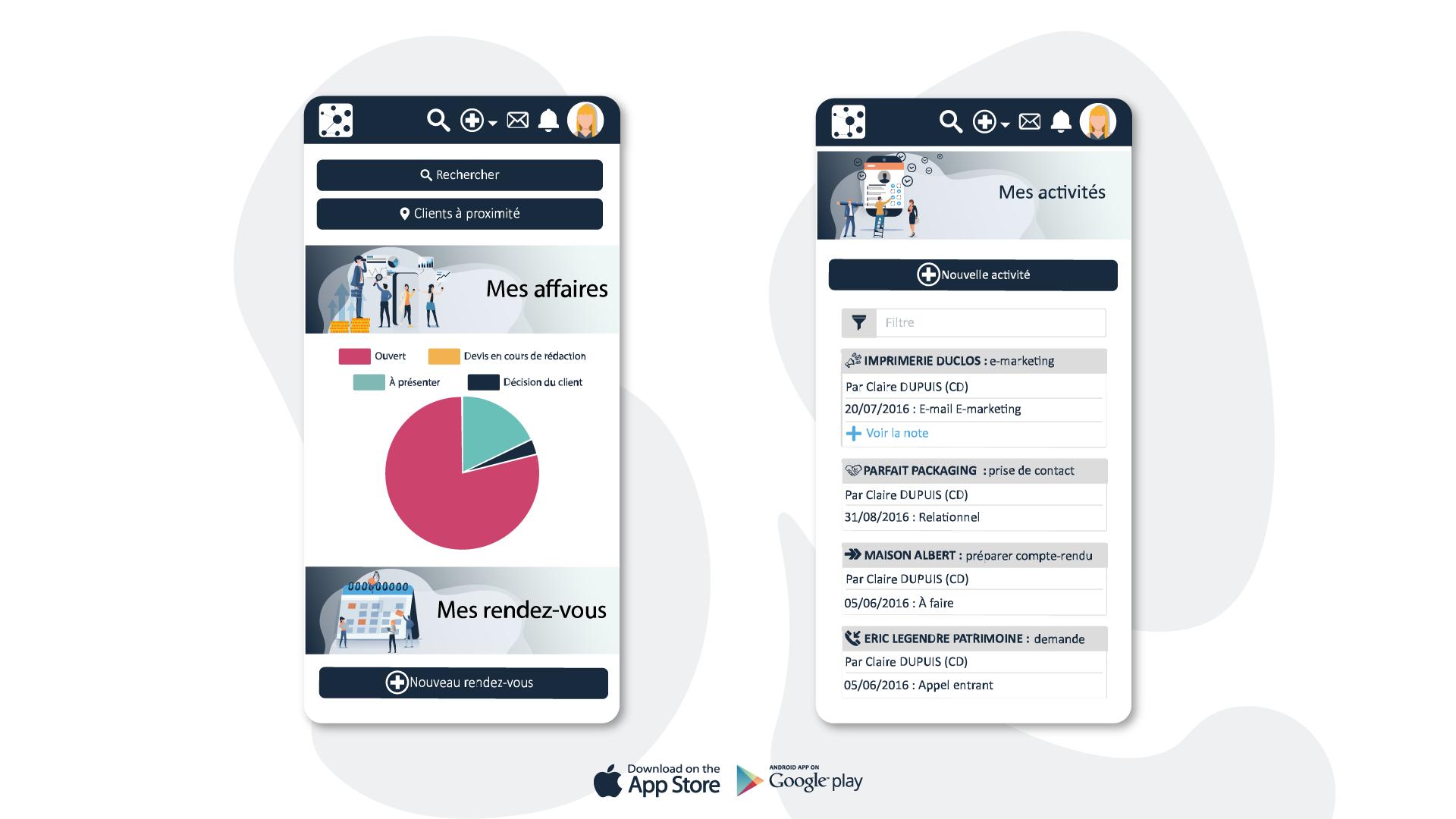 Oxiva est disponible sous iOS et Android