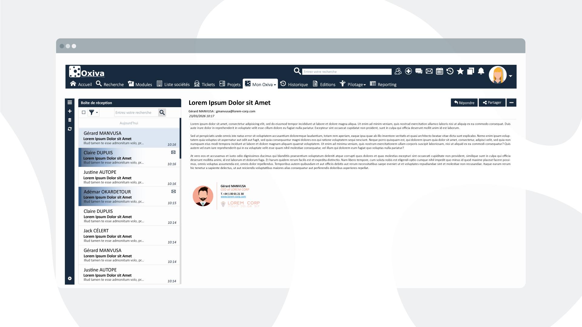 Oximail | Gestion de vos boîtes mails