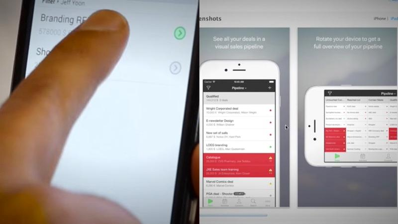 Pipedrive est un CRM en ligne qui dispose d'applications mobile