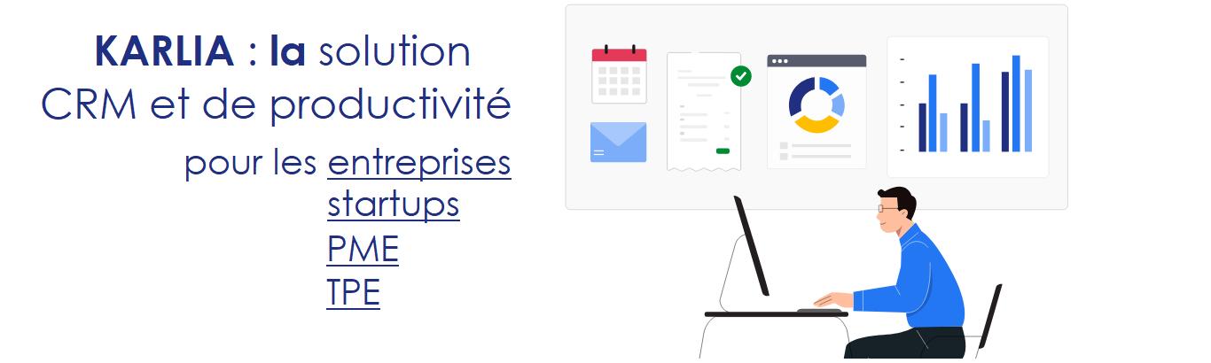 Avis Karlia : Crm prospection, mails, facturation, et tâches 100% français - appvizer