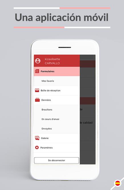 La captura de datos se facilita ya que Kizeo Forms está diseñado y pensado para su uso en el terreno en móviles y tablets.