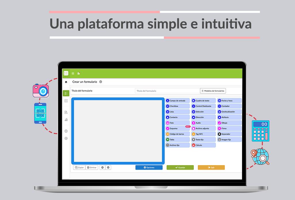 Un espacio para crear formularios está a tu disposición para digitalizar la captura de datos.