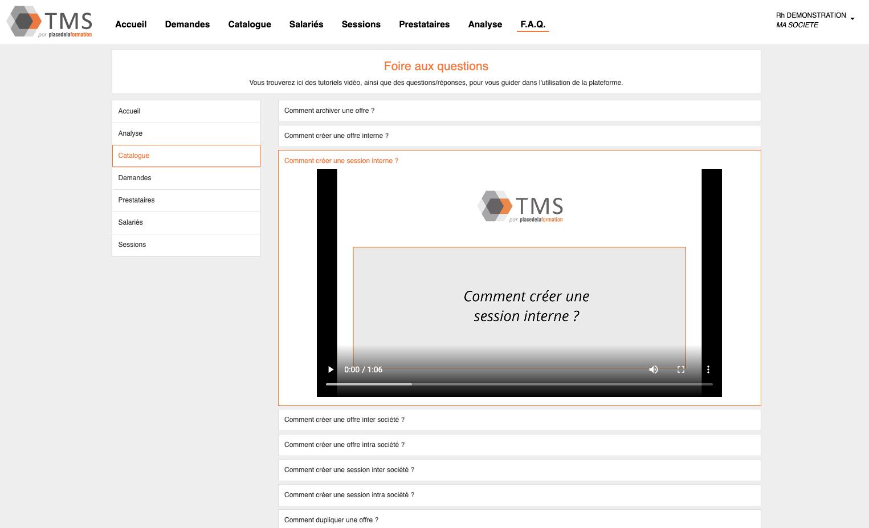 Aide en ligne, FAQ en vidéos