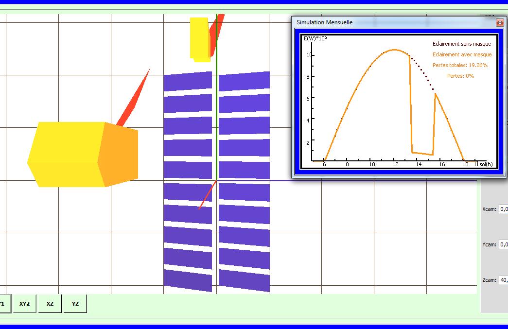 Interface de simulation PV en 3D