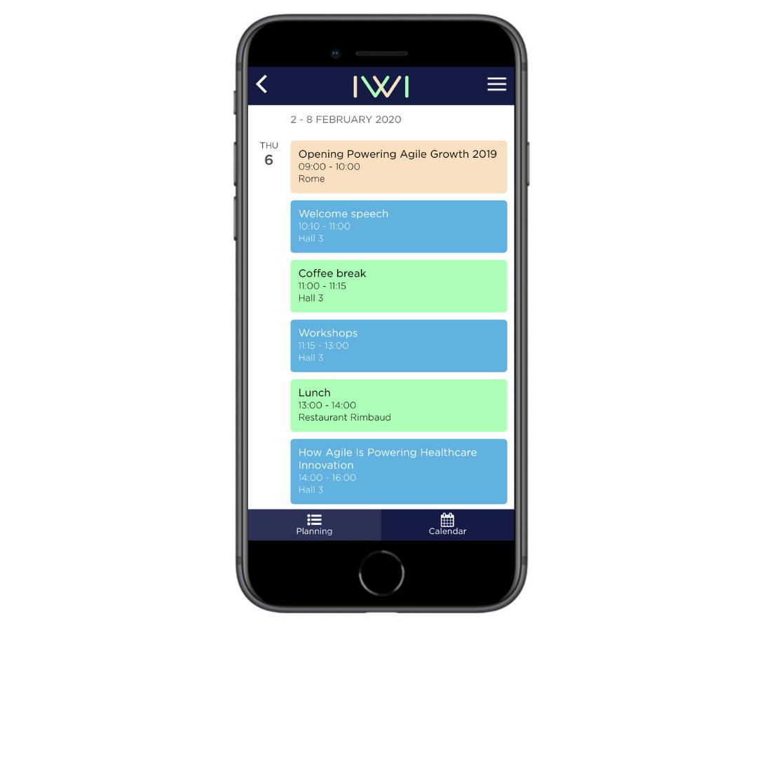 IWI events-Agenda personnalisé