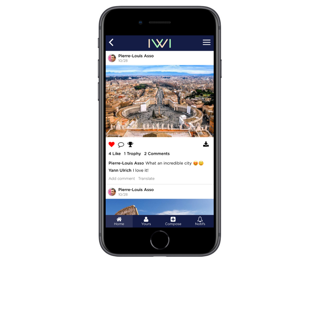 IWI events-Social Wall