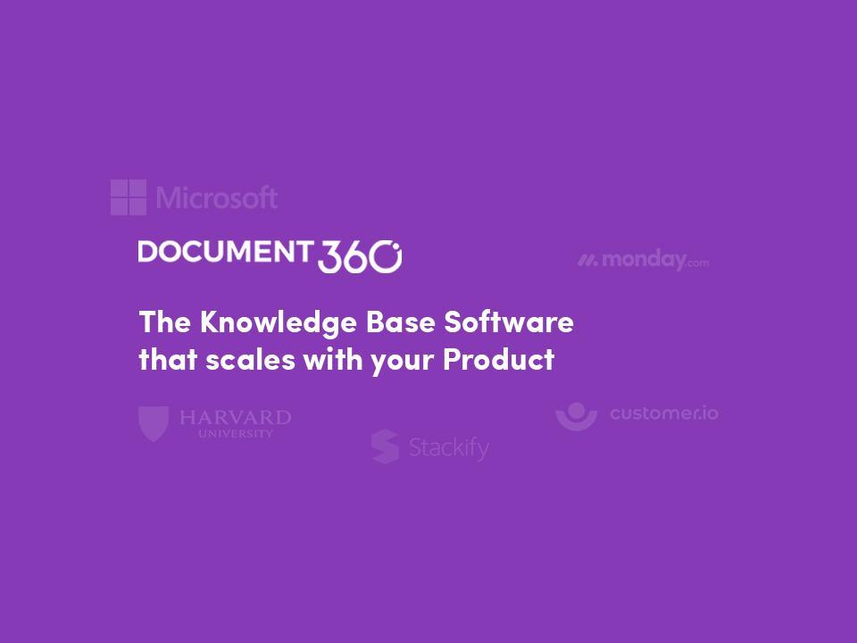 Avis Document360 : Logiciel de connaissances qui évolue avec votre produit - appvizer