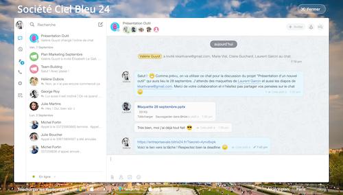 Chat avec les utilisateurs extranet