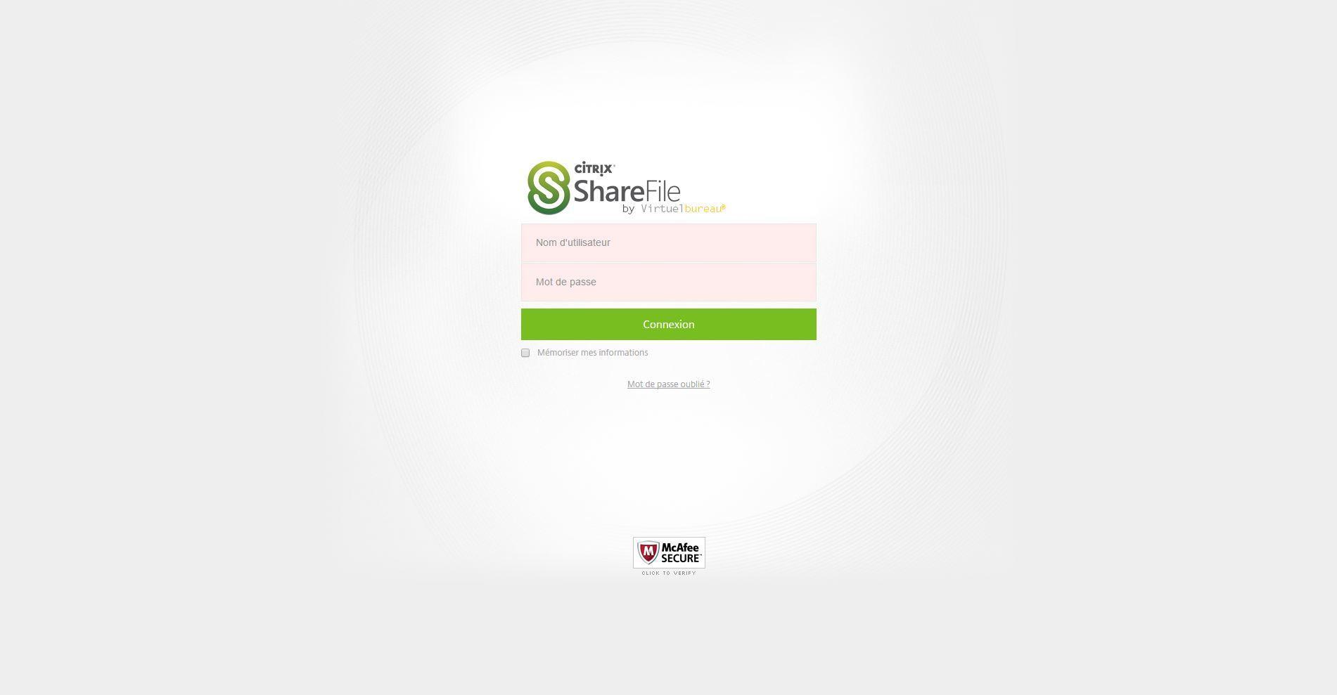 ShareFile by Virtuelbureau: Compatible Window OS, Contrôle strict des accès aux serveurs, Support (téléphone, email, ticket)