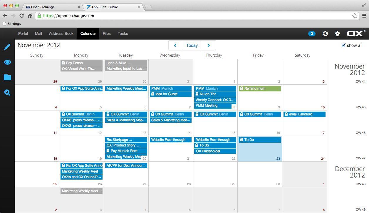 OX App Suite: Revisions et versions, Synchronisation de documents, Photos et vidéos