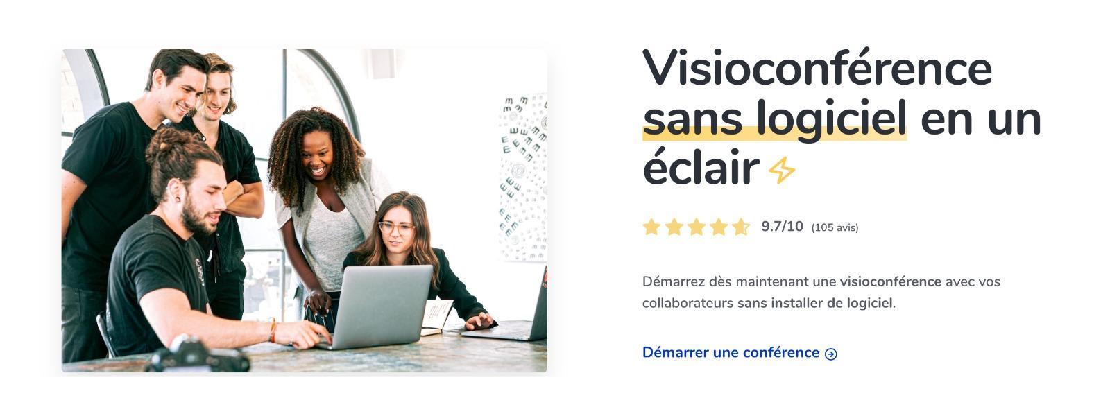 Assemblée est une solution de visioconférence qui permet de mettre en relation plusieurs utilisateurs dans un même salon de conférence vidéo.⚡️