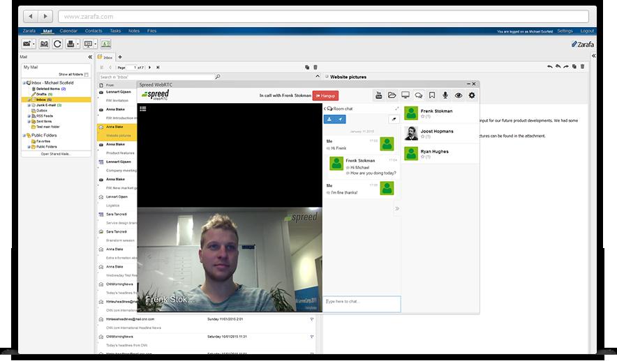 Zarafa: Visionneuse de documents, Agendas partagés, Webmail (gestion des emails)