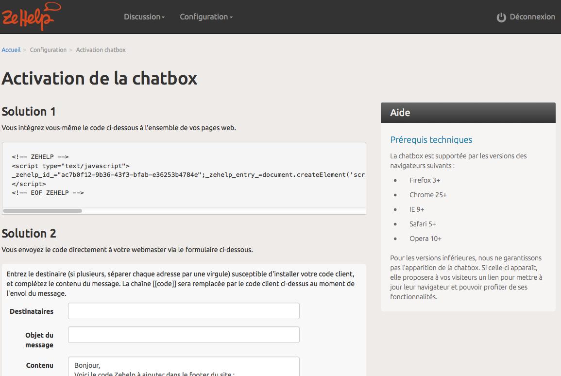 ZeHelp: Help Desk, Base de savoir (tutoriels, démos), Site Web (plugin, formulaire)