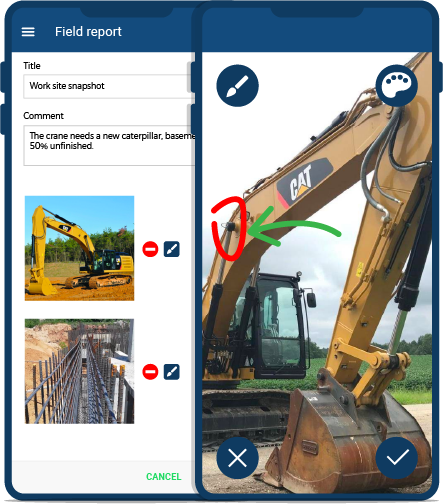 Photo report mobile app