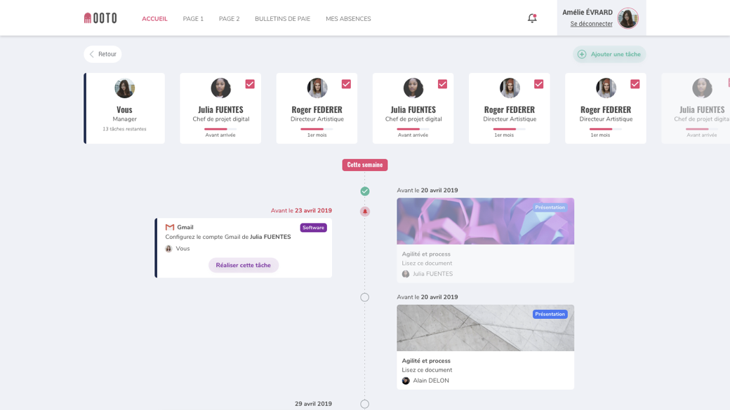 OOTO-Timeline manager
