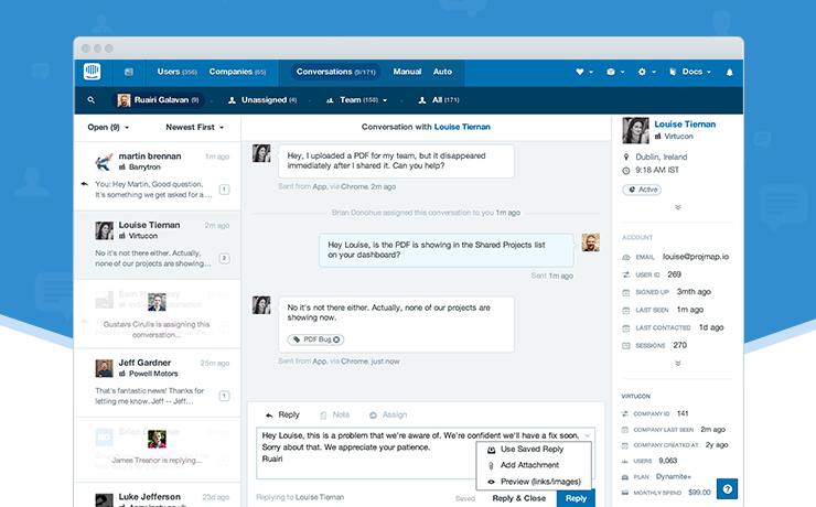 Intercom : Le logiciel support client, chat et emailing - Avis et prix