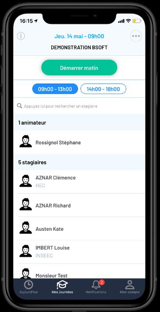 Application iPhone d'émargement