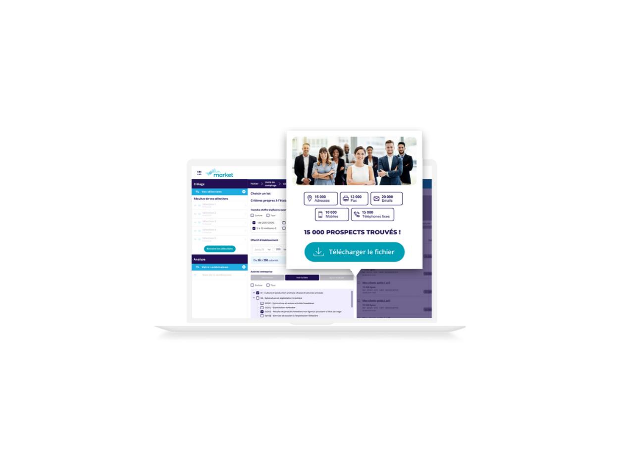 Avis market : 50 M de contacts BtoB & BtoC en libre-service - appvizer