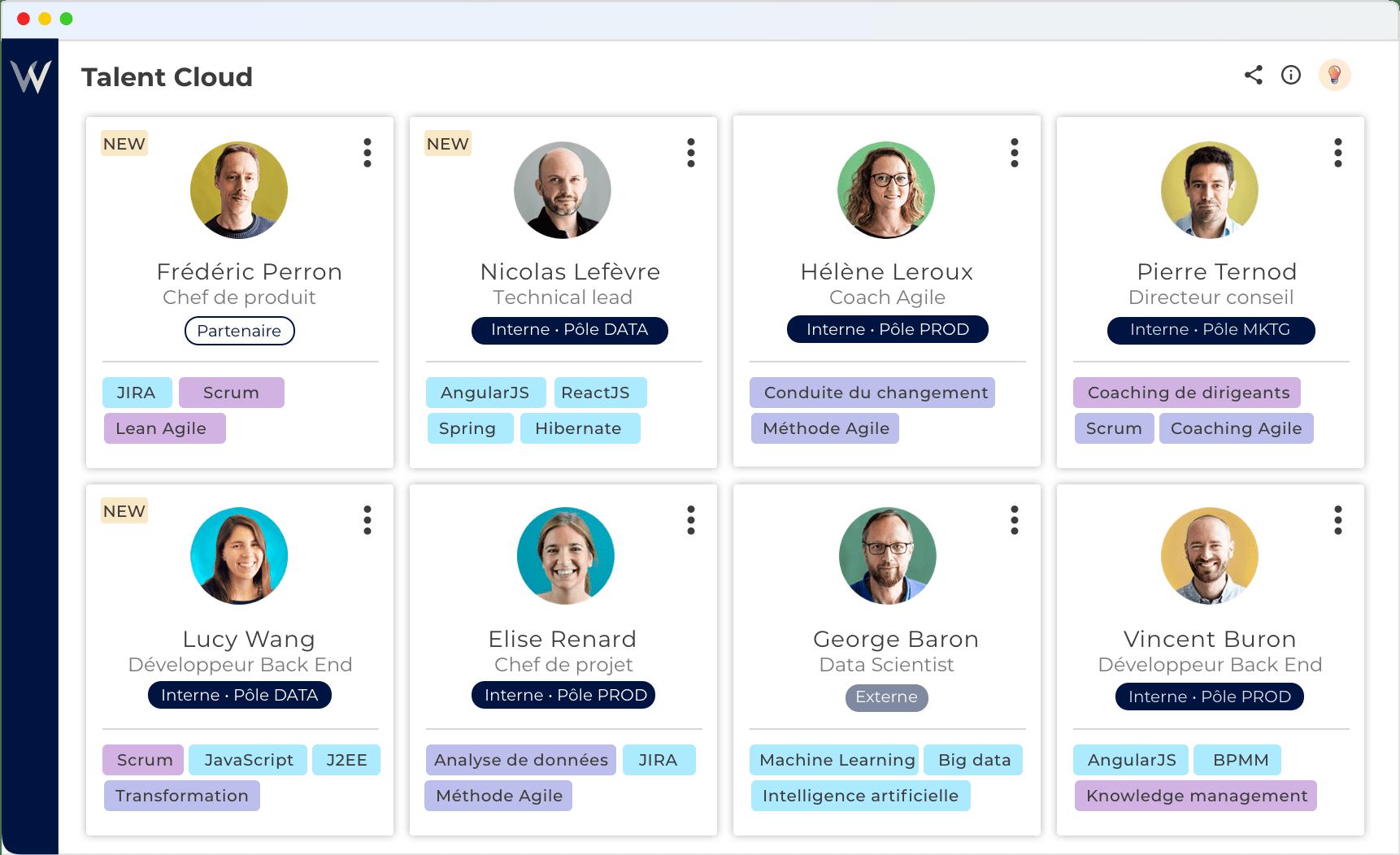 Scannez tout votre écosystème (profils internes, partenaires, freelances) et trouvez les bons profils !
