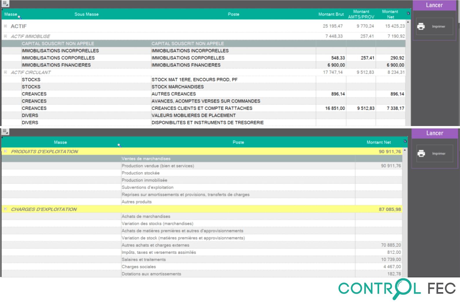 Vous pouvez intégrer une balance .Excel pour rapprocher la balance générale du FEC.  Par exemple : Importez la balance générale du cabinet d'expertise comptable pour la comparer à celle issue du traitement du FEC et repérez des écarts