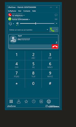 Application de téléphonie professionnelle sur ordinateur