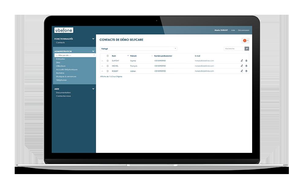 Plateforme de gestion et administration de la téléphonie cloud