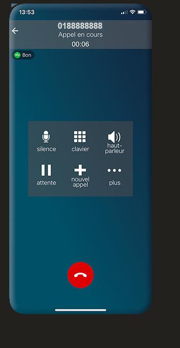 Application de téléphonie professionnelle sur smartphone